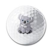 Cute Australia Koala Bear White Elastic Golf Balls Practise Golf Balls Golf Training Aid Balls
