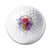 All Seeing Eyes DJ Skull Splash Geometric White Elastic Golf Balls Practise Golf Balls Golf Training Aid Balls