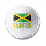 Jamaica Flag National Pride Country White Elastic Golf Balls Practise Golf Balls Golf Training Aid Balls