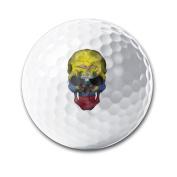 Ecuador Skull White Elastic Golf Balls Practise Golf Balls Golf Training Aid Balls