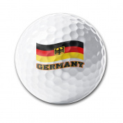 Germany Waving Flag Deutschland Pride White Elastic Golf Balls Practise Golf Balls Golf Training Aid Balls