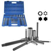 60 Piece Star Tamper Proof Tork Torx Long E Socket Bit Set for Ratchet Wrench Tool