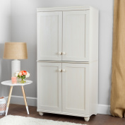 South Shore Hopedale 4-Door Storage Armoire, White Wash