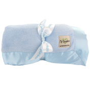 """My Blankee Luxe Stone Throw Blanket with Flat Satin Border, Sky Blue, 150cm X85"""""""