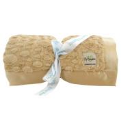 My Blankee Luxe Stone Super Throw Blanket with Flat Satin Border, Caramel, 150cm X 180cm