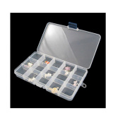 Sinfu Storage Case Box Holder Container Pills Jewellery Nail Art Tips 15 Grids
