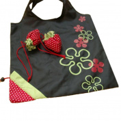 Sinfu Storage Bag Strawberry Fruit Green Folding Convenience Shopping Bag