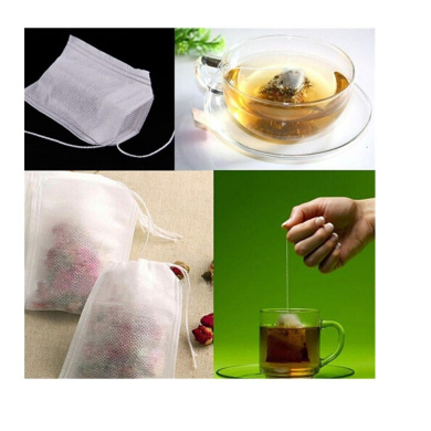 Sinfu 100 pcs Teabags String Heat Seal Filter Paper Herb Loose Tea Bag