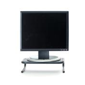 Mind Reader ' Collar' Metal Monitor Stand with keyboard storage space, Black