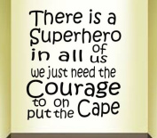 There is a superhero in all of us we just need the courage to put on the cape
