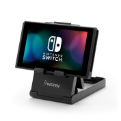 Nintendo Switch Stand, Nintendo Switch Playstand with Charging Port Access, by Insten Gaming Play Stand Holder Desktop Bracket [Multi-Angle Adjustable] for Nintendo Switch - Compact & Foldable Design