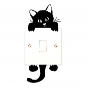 New Cat Wall Stickers ,kaifongfu Light Switch Decor Decals Art Mural Baby Nursery Room