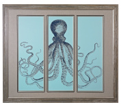 Octopus Tryptich - Fine Art Giclee Under Glass