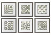 Symmetry Blueprint 44cm . Height Symmetry Blueprint Wall Art