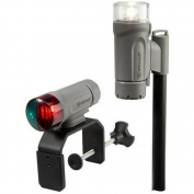 Attwood C-Clamp Mount Portable LED Nav Light Kit with Threaded Pole, Grey