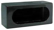 Truck Light Mounting Cabinet,For Single Oval Body Light,Black,Aluminium,20cm L