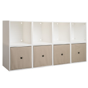 iCube 8-Cube Sideboard with Drawers, White