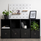iCube 8-Cube Sideboard with Drawers, Black