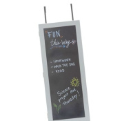 Wall Cabinet Organiser with Chalkboard in Grey