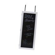 Wall Cabinet Organiser with Chalkboard in White