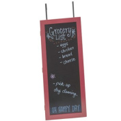 Wall Cabinet Organiser with Chalkboard in Red