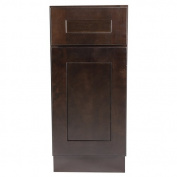 Design House 561928 Brookings 38cm Base Cabinet, Espresso Shaker