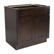 Design House 562082 Brookings 90cm Sink Base Cabinet, Espresso Shaker