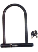 "Trimax MAX602 5"" x 9"" Medium Security PVC Coated U-Shackle with 14 mm Shackle"