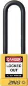 ZING 7054 Lockout Padlock, KD, Yellow, 0.6cm . Dia.