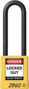 ZING 7055 Lockout Padlock, KA, Yellow, 0.6cm . Dia.