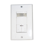 Lithonia Lighting Acuity LIRW DR WH Infrared Dual Relay Wall-Mount Occupancy Sensor Litronic, White