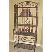 Bowery Hill Iron Baker's Rack in Bronze