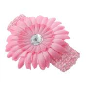 RuiChy Flower Crochet Headband Girls Kids Baby Toddler Infant