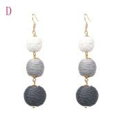 Fashion Spherical Style Tassel Dangle Stud Earrings