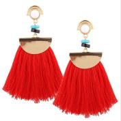 Women Long Tassels Fringe Boho Dangle Earrings Fashion Bohemian Earrings