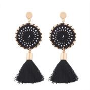 Women Bohemian Vintage Long Tassel Fringe Boho Dangle Earrings