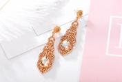 Prettymenny Women Crystal Wedding Earrings Bridal Long Earrings