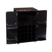 Southern Enterprises Cape Town Home Bar Cabinet in Black