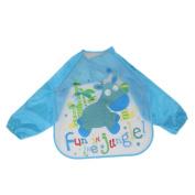 Staron Waterproof Long Sleeve Lightweight Baby Bibs,Baby Anti-Stains Drool Bibs Bandana Feeding Art Apron