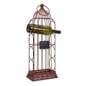Melrose Tabletop Birdcage Wine Rack with Chalkboard