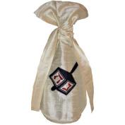 Arcadia Home Design Inc. Silk Dreidel Wine Bag