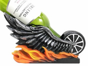 Highway To Hell Devil Wings Motorbike On Fire Ghost Rider Chopper Wine Holder Figurine Sculpture Kitchen Hosting Home Decor Great Gift For Motorcycle Lovers Gang Bikers Chopper Collectors