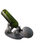 Drunken Classic Roswell Alien Wine Bottle Holder By DWK | Unique Extraterrestrial Home Decor And Gifts by DWK