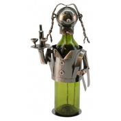 Three Star Im/Ex Inc. Waitress 1 Bottle Tabletop Wine Rack