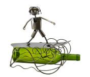 Cool Happy Surfer Metal Wine Bottle Holder Character