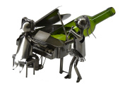 Piano Pianist and singer Duo Performing Metal Wine Bottle holder Characters