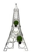 Paris Eiffel Tower Metal Wine Bottle Holder 80cm Tall 6 Bottle Capacity Wine Rack