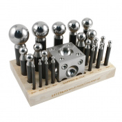 Professional 23 Piece Dapping Set - 3 to 43 Millimetre Punches - SFC Tools - 25-632