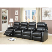 Picket House Furnishings Cecille 4 Piece Home Theatre Power Recliner Set