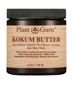 Kokum Butter 120ml 100% Pure Raw Fresh Natural Cold Pressed. Skin Body and Hair Moisturiser, DIY Creams, Balms, Lotions, Soaps.